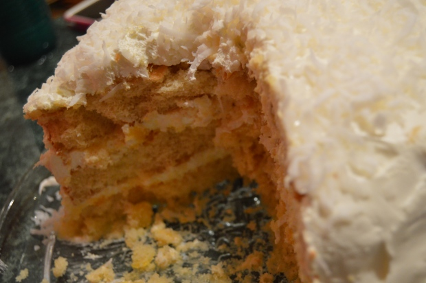 My mothers coconut cake for most holidays. You cant beat it. It will always be there to tempt you.